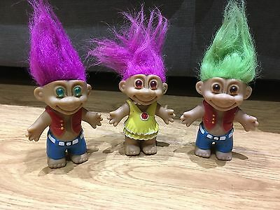 Russ Troll X3 Waist Coat And Dress Rare Troll Toys 4""