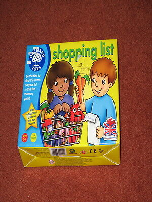 Orchard Toys SHOPPING LIST Baby/Toddler/Child Memory Game - NEW