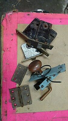 Antique door parts hinges plates