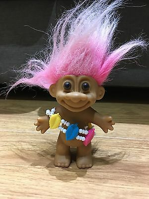 Russ Troll Jungle Lady Vintage Troll Toy 4""