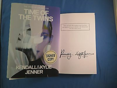 Kendall & Kylie Jenner Signed Time Of The Twins First Edition Book COA Autograph