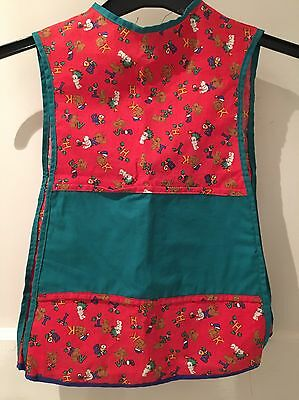 Small Child's Lovely Tabard Teddy Design Handmade Christmas Apron