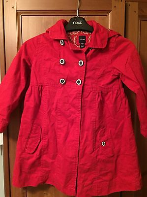 Baby Gap Girls Red Coat/Jacket With Hood Age 5 Worn Once Excellent Condition
