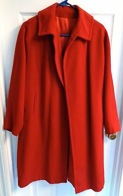 SOMERSET size S Small M Medium L Large XL RED CASHMERE wool vintage swing coat