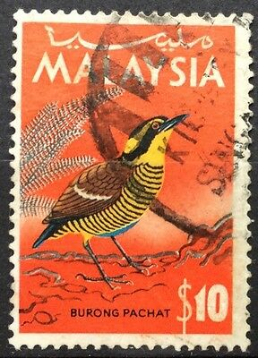 MALAYSIA 1965 SG27 $10 'Burong Pachat' VERY FINE USED