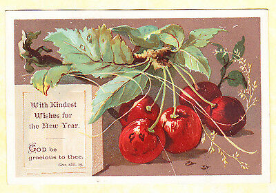 Victorian Religious Card, Cherries