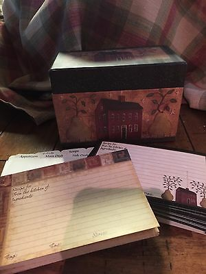 Legacy Recipe Box With Cards Country