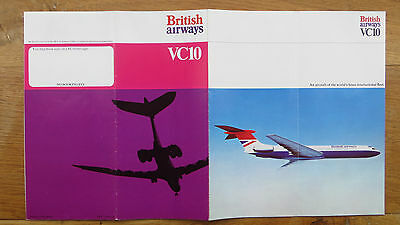 Vc10 - British Airways Fold-Out Pamphlet - 1973