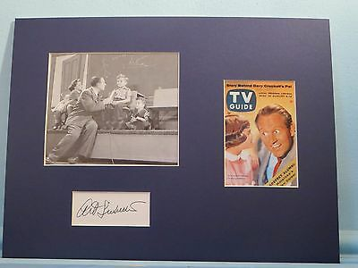 "Art Linkletter - ""Kids Say The Darnest Things""  and his autograph"