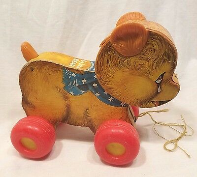 Vintage Fisher Price Cry Baby Bear Pull Toy