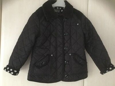 girls next black quilted jacket age 7/8