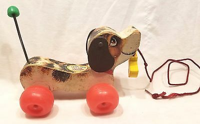 Vintage Fisher Price Little Snoopy Puppy Dog Pull Toy