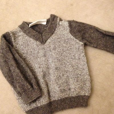 The White Company Boys Baby Lambs wool Jumper 0-3 Months