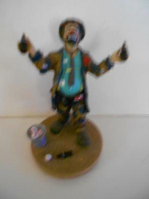 "Flambro Emmett Kelly Jr Coca Cola ""refreshes You Best"" #2684 Figurine"