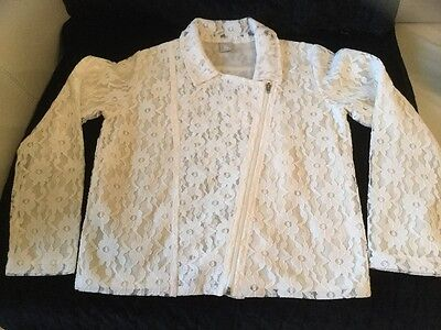 Girls lace biker jacket age 8 great for next summer holidays