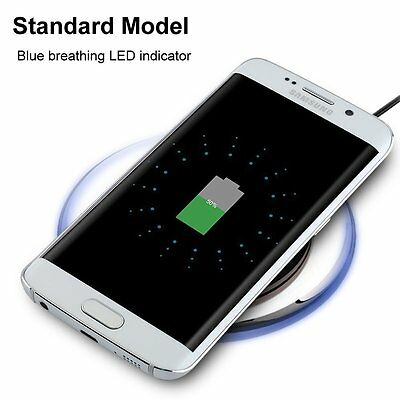 Qi Wireless Charger Charging Pad Plate for Samsung Galaxy S7 S6 Edge Plus Note 5