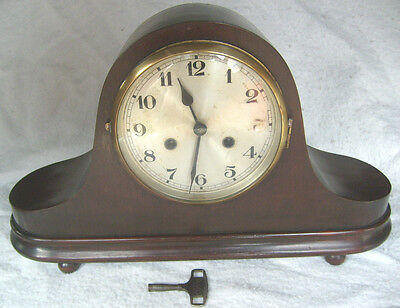 1920/30's Urgos Factory German Striking Mantle Clock,V.Good Working Condition.