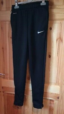 Nike Dri Fit Black Tracksuit Bottoms 10-12 Years