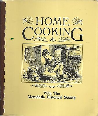 Meredosia Il Vintage *home Cooking Cook Book Historical Society Illinois Recipes