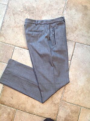 Marks & Spencer COLLECTION ladies GREY slim leg tailored trousers Size 10 *Worn