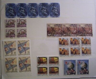 Serbia Selection Of Used Stamps To Clear