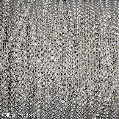 925 Sterling Silver chain rolo belcher 1.5mm 3mt - 10FT supply jewellery making