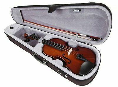 New Valencia Sv114 4/4 Full Size Student Violin Outfit Case, Bow & Rosin