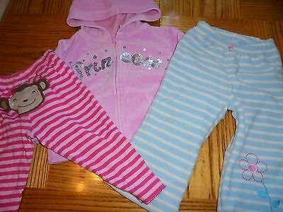 Cute 4 Christmas Size 12 Months-Cute Pink Princess Jacket & 2 Pair of Pants