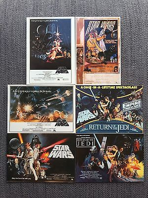 6x Star Wars Postcards