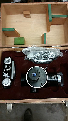 OLYMPUS MICROSCOPE CAMERA ASSEMBLY PM-7 W/ 2 PA-35 Camera Bodies