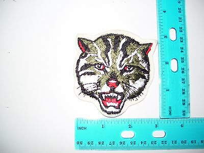embroidered patch crest wildcat
