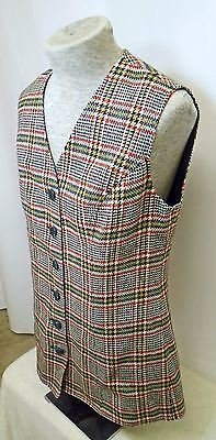 Vintage Pendleton Young Women's Plaid Vest Size 11-12 Excellent Rare!