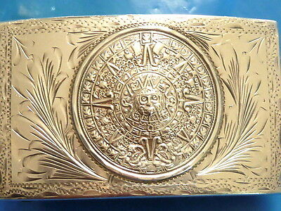 Old Mexico Vhlc Salisco Eagel 50 Sterling Silver Sun Gold Belt Buckle