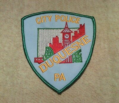 PA Duquesne Pennsylvania Police Patch 2