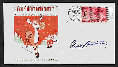 Gene Autry Rudolph The Red-Nosed Reindeer Limited Edt Collector's Envelope *1034