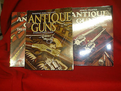 Two Antique Guns Collectors Guide, And Shooters Bible Antique Guns