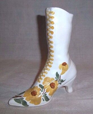 Vintage Cash Family Tennessee Handpainted Pottery Boot / Shoe