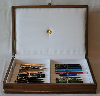 Fountain Pen Chest, #503, Vintage, Hand-Crafted, Holds 22 Pens, Solid Wood, Usa