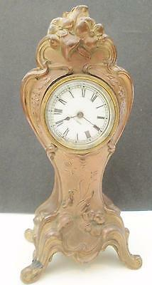Art Nouveau Brass Seth Thomas Clock