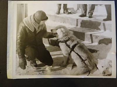 Photo Man with Sled Dog  (D1F2)