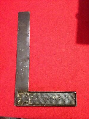 """Vintage Stanley Set Square 12"""" Made in USA steel Sweet Heart"""