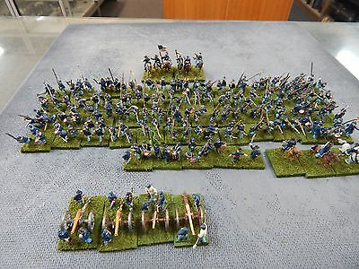 15mm painted AMERICAN CIVIL WAR Union Infantry, Cavalry, Artillery
