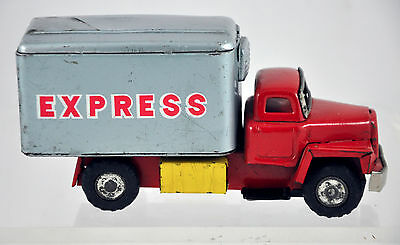 """Vintage Tin Friction Cargo Truck """"Express"""" - Made in Japan"""