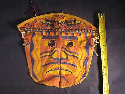 Early Halloween Mask Cloth Indian Primitive Decoration Masquerade