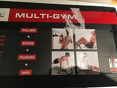 Perfect Fitness Multi-Gym Pro Pull Up Bar SITUPS PUSHUPS DIPS #1126