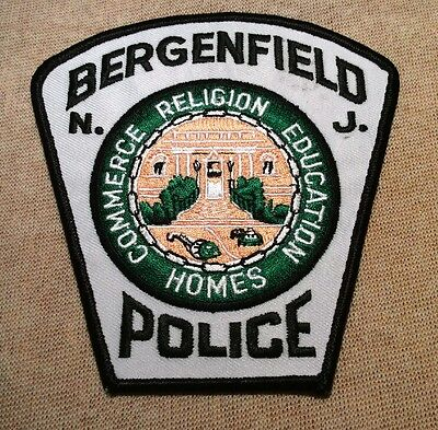 NJ Bergenfield New Jersey Police Patch