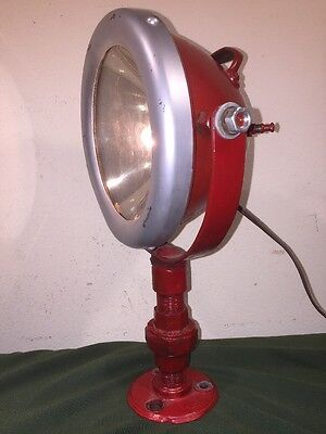 Antique Vintage New York City Fire Department Fire Boat Searchlight Spotlight
