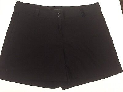 Women's Maggie Lane Golf Shorts Athletic Fitness Casual Size 14 Black