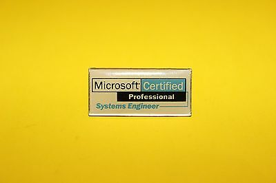 Vintage Microsoft Certified Professional System Engineer Pin