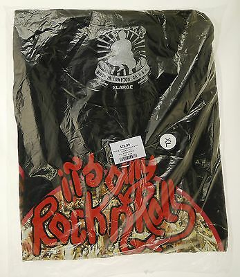 """Rolling Stones T-Shirt Black XL """"Only Rock and Roll"""" NIB"""